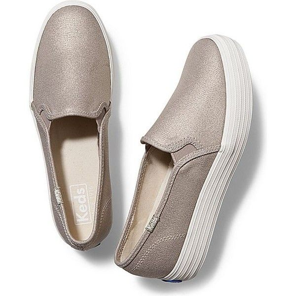 82370ec5102d8 Keds TRIPLE DECKER METALLIC CANVAS ( 55) ❤ liked on Polyvore featuring shoes