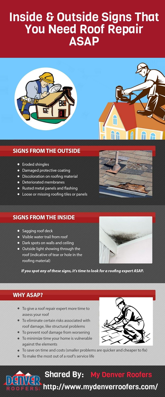 Inside Outside Signs That You Need Roof Repair Asap Roof Repair Roof Tiles Repair