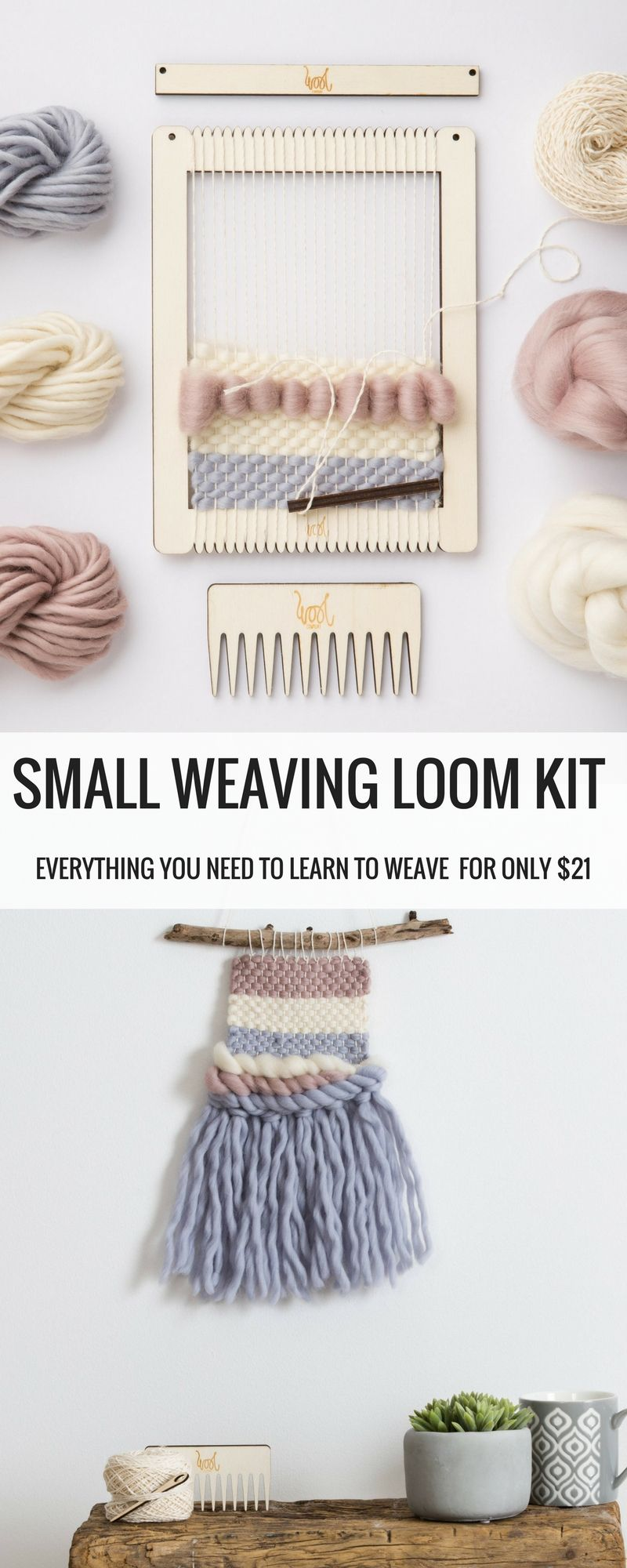 Only 21 Small Weaving Loom Kit Diy Weave Home