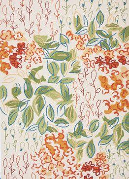 Floral Pattern Multi Color Indoor/ Outdoor Rug - CO07, 7.6x9.6 contemporary-outdoor-rugs