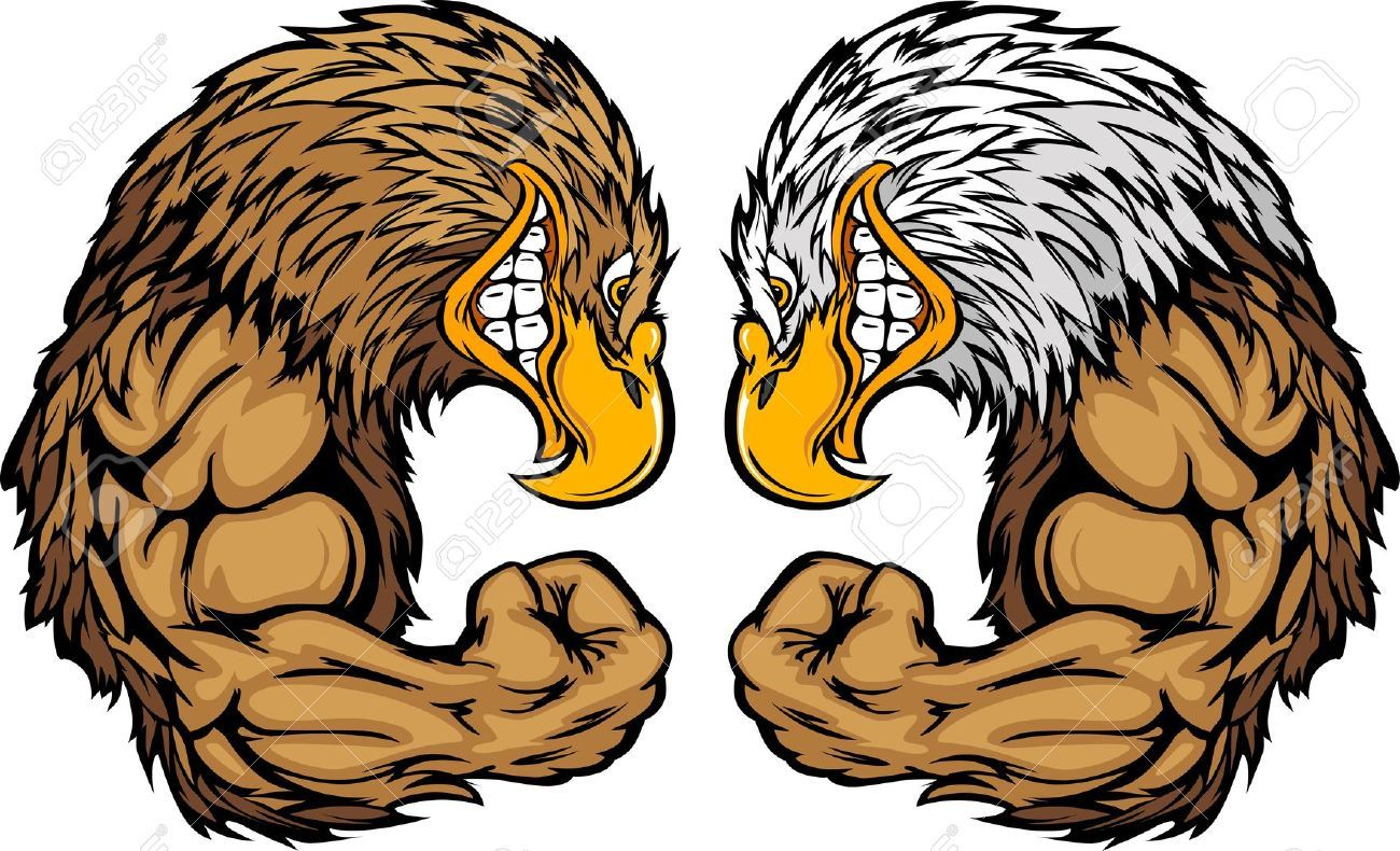 Stock Vector Eagle cartoon, Eagle mascot, Golden eagle