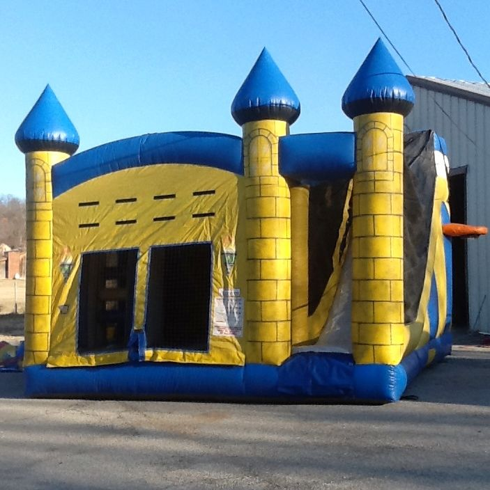 our yellow 5-in-1 castle will make the perfect bowser's castle for