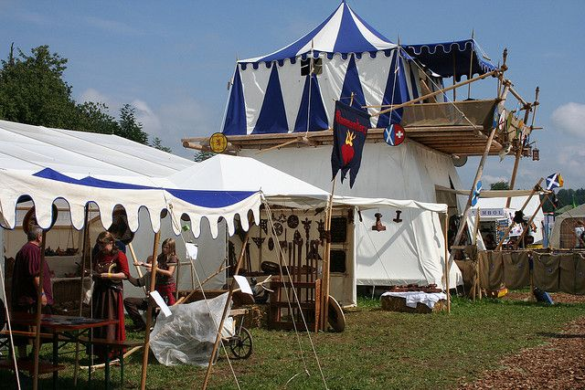 Really cool two-story tent by kookykrys via Flickr Post says this is from & Really cool two-story tent | Tents Highland games and Highlands