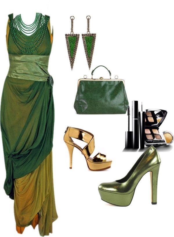 """Beautiful sage green silk chiffon dress"" by thebeautyinsiders ❤ liked on Polyvore"
