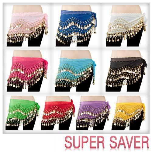 On Sale BELLY DANCING Silver COIN BELT WRAP HIP SCARF SKIRT WHOLESALE lots PRICE