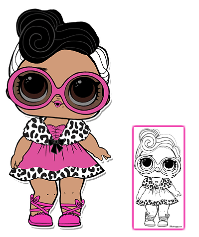 Pin By Gwen On Dibujos Lol Dolls Coloring Pages Lol