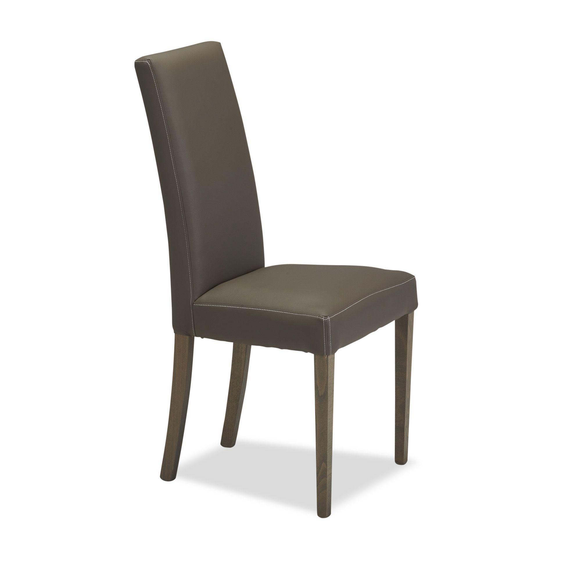 Chaises Alinea Salle A Manger chaise revêtement pvc taupe gris taupe - ava - chaises