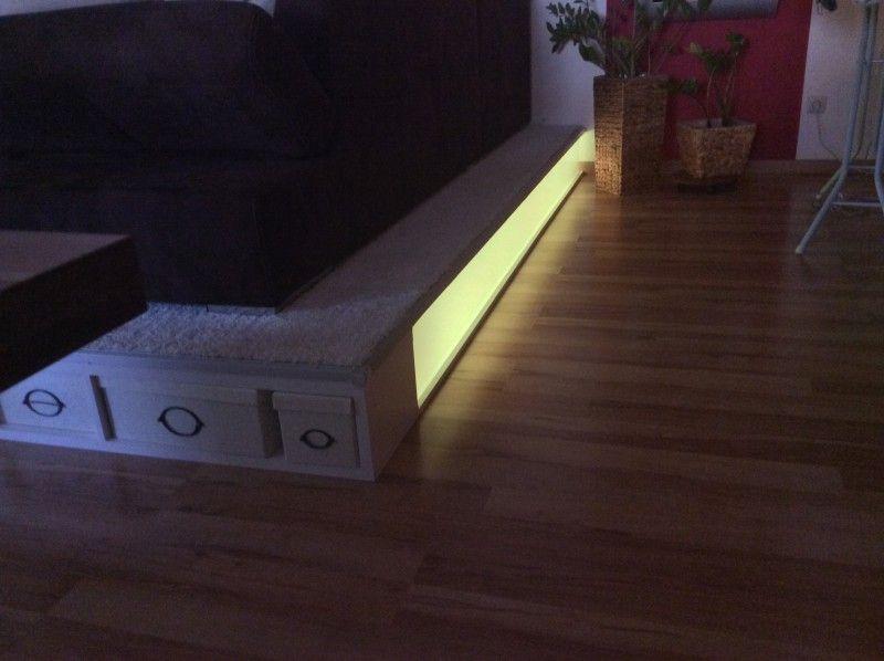Nun endlich auch mit Beleuchtung hinter Plexiglas DIY and crafts - beleuchtung für wohnzimmer