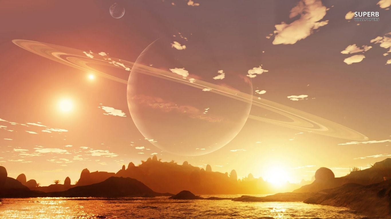 Planet in the sky during the day wallpaper - Fantasy wallpapers ...   Art - Unreal Universe ...