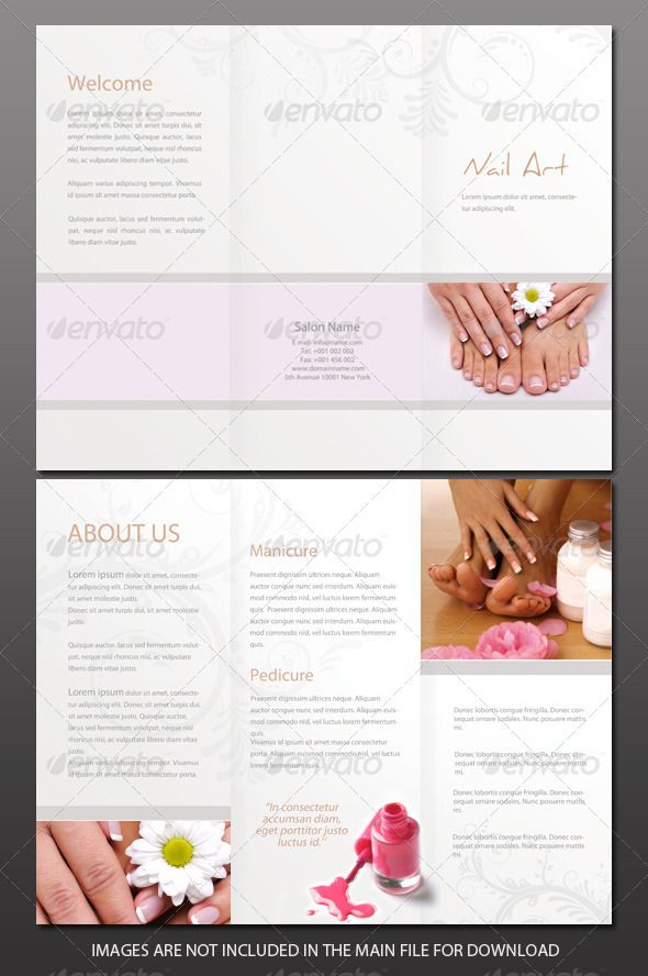 Beauty Salon Brochure  Brochures Salons And Corporate Brochure