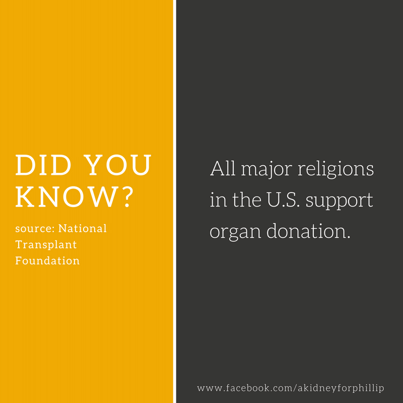 Did You Know All Major Religions In The US Support Organ - All major religions