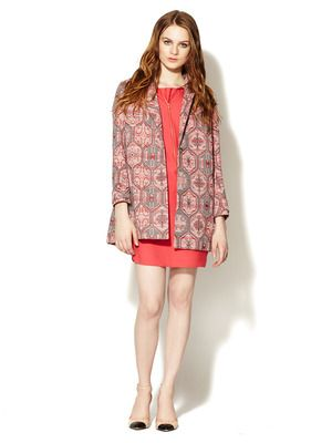 Maje Lange Cotton Jacquard Jacket