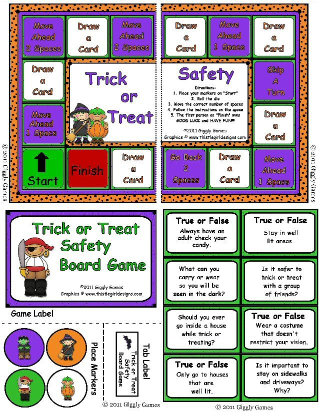 Trick or Treat Safety Board Game Games, Board games