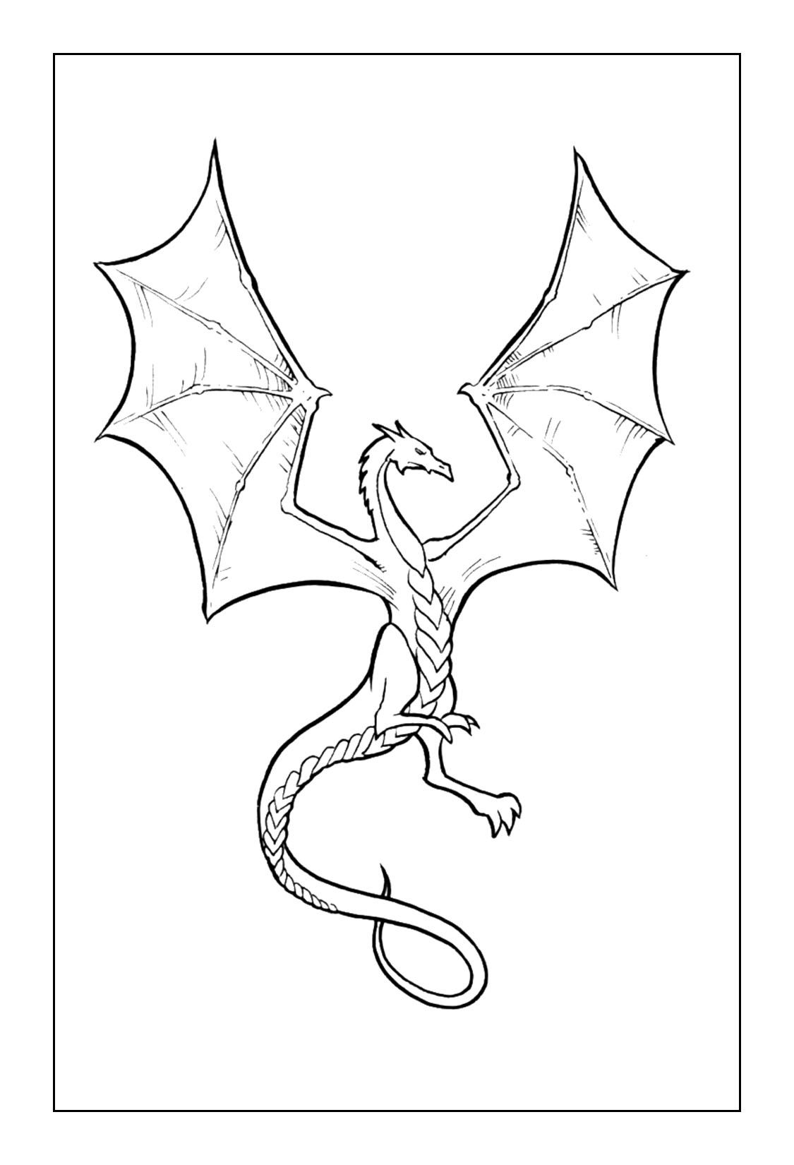 Dragon Coloring Pages Simple Dragon Drawing Dragon