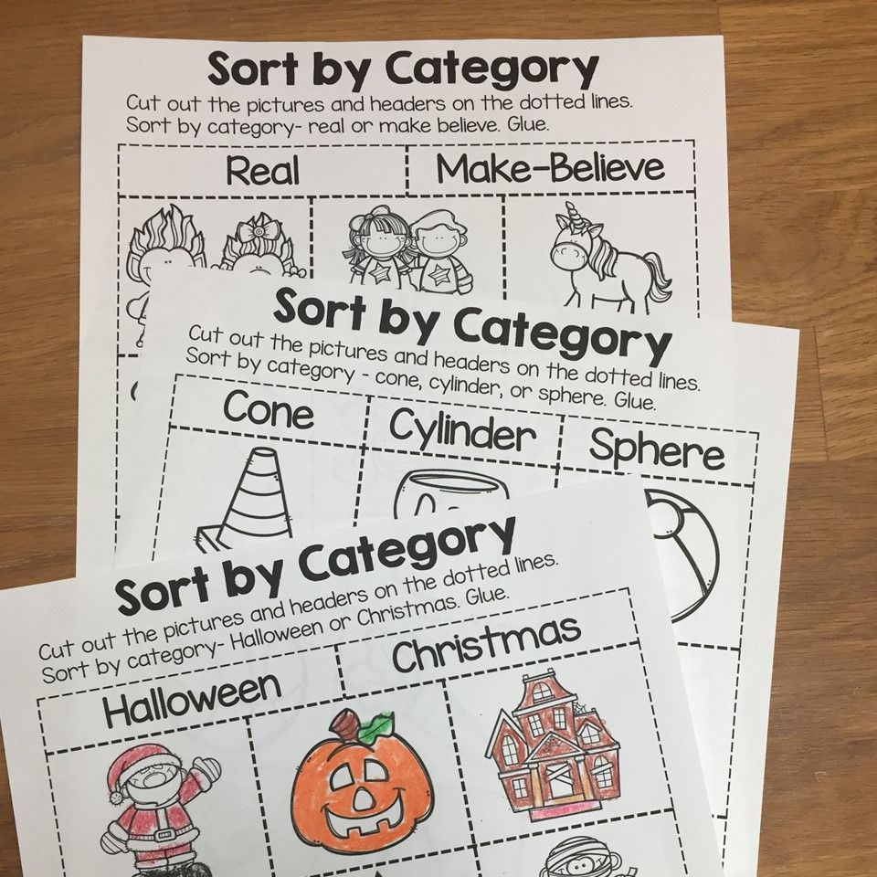 This resource includes 38 different sorting printables that are No-Prep-  Ju…   Kindergarten sorting activities [ 960 x 960 Pixel ]