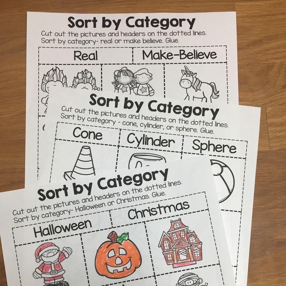 Sort By Category Sorting Printables For Prek Kindergarten And 1st Grade Kindergarten Sorting Activities First Grade Math Worksheets Kindergarten Activities