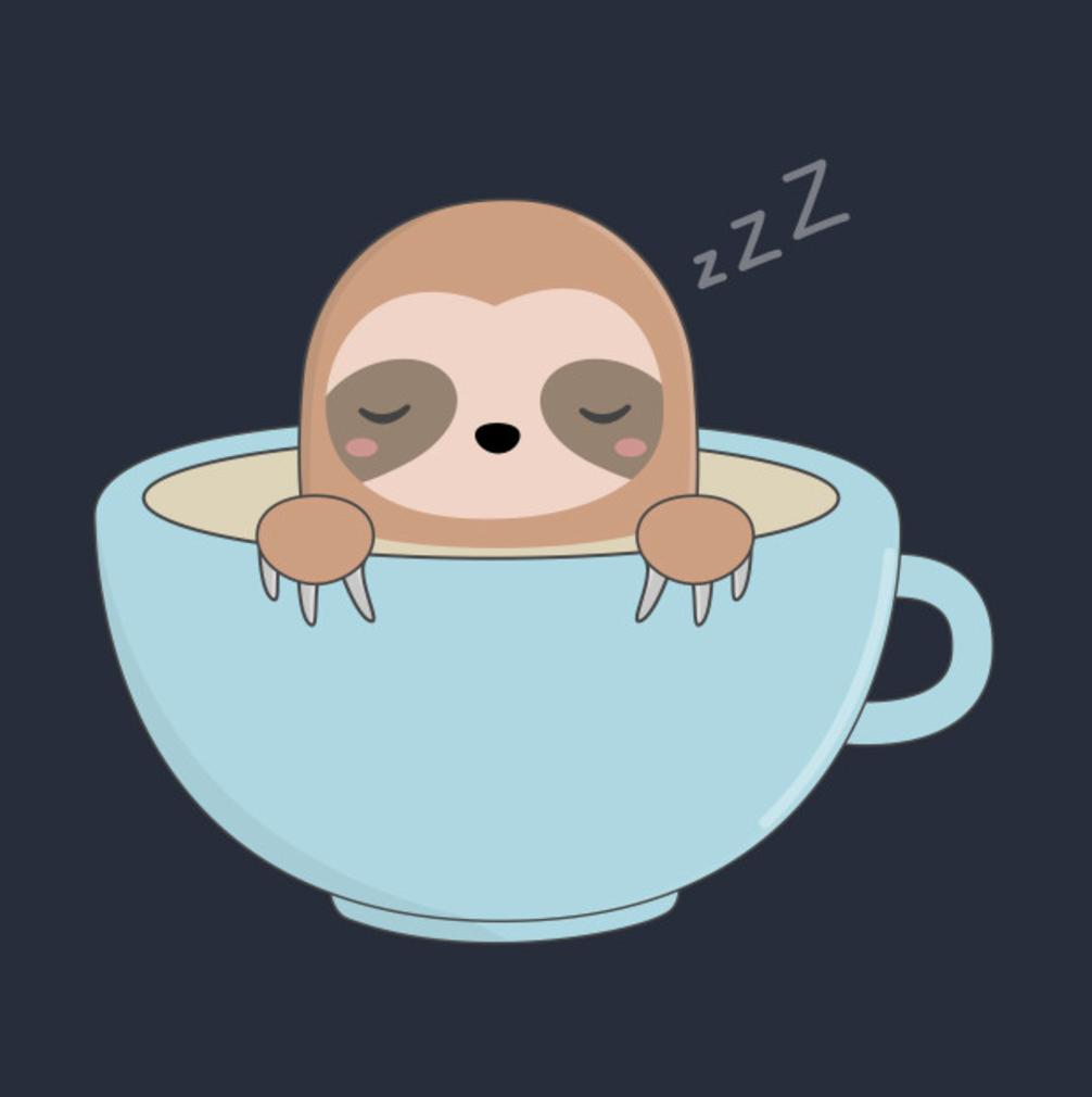 Kawaii Cute Sloth Coffee T Shirt Great For Sloth Lovers Cute Baby Sloths Sloth Cartoon Sloth Art