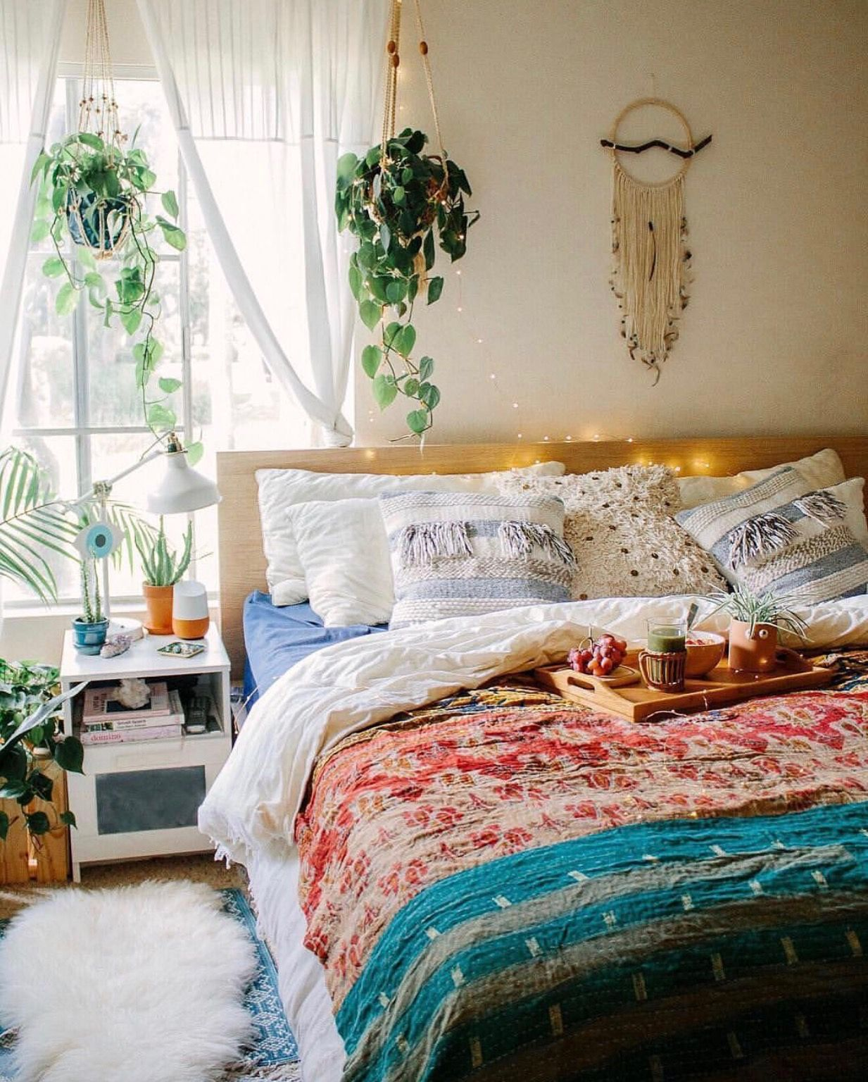 Pin by heidi nichole on interior (With images) | Bedroom ... on Boho Bedroom Ideas On A Budget  id=60169