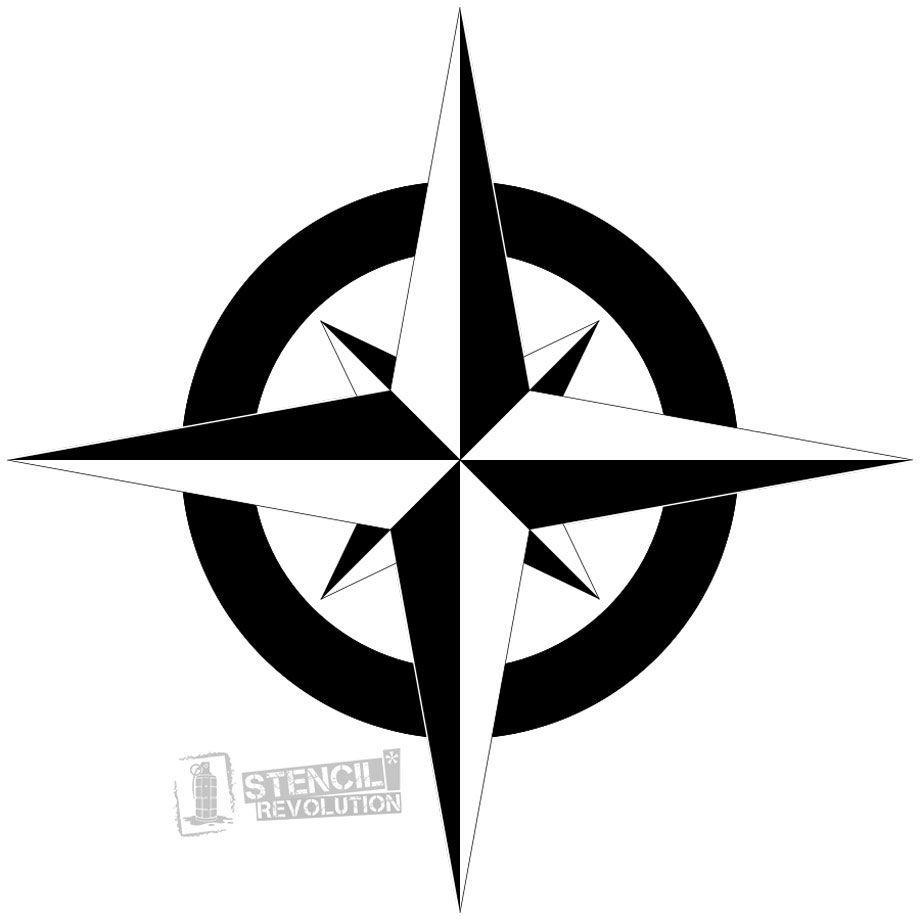 Compass Stencil Compass Rose Compass Rose Art Compass Art
