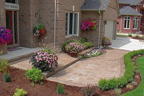 Biondo Cement - Patios Gallery / 51-Walkway-and-Front ... on Concrete Front Yard Ideas id=84088