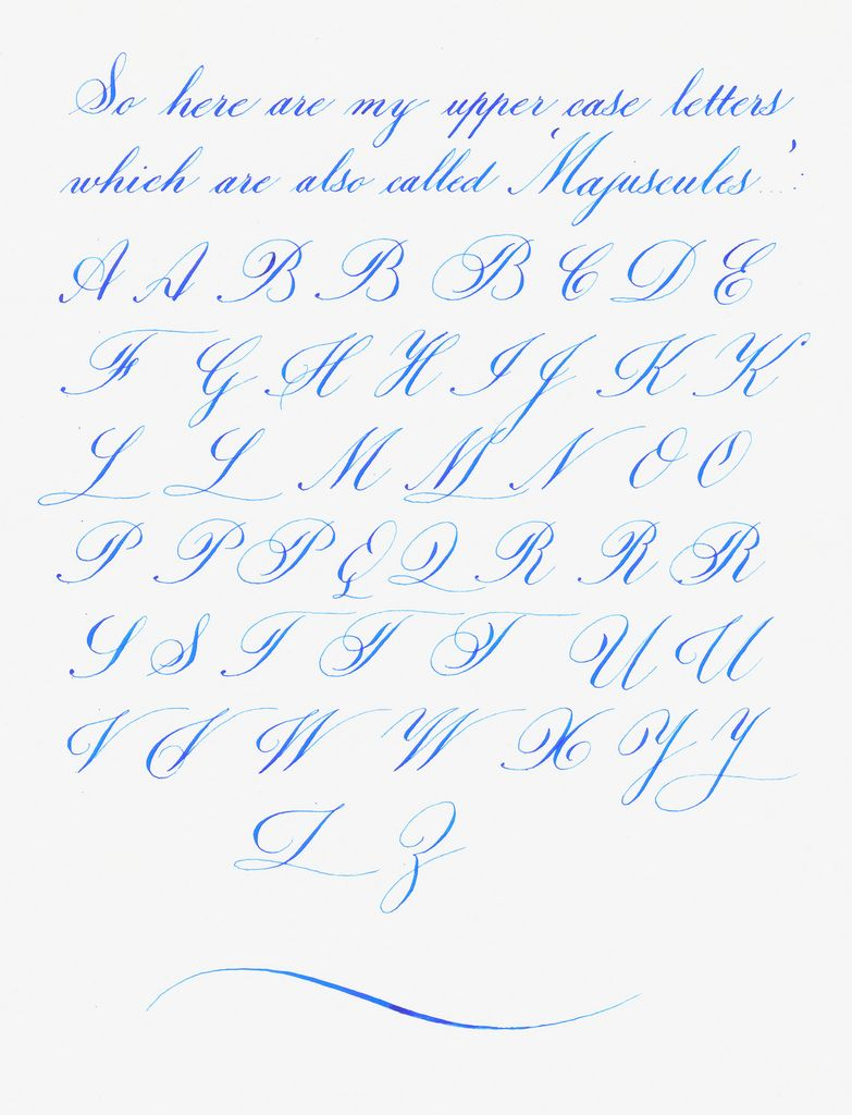 Beautiful handwriting letter h my copperplateish for Calligraphy pen letters