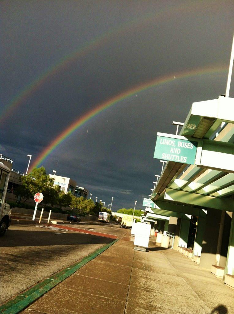 Double Rainbow at the Sunport Airport in Albuquerque, NM