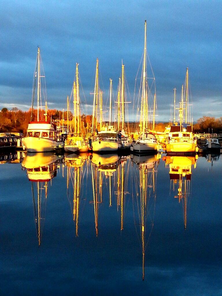 Winter sun on Muirtown Basin - Nov 2012