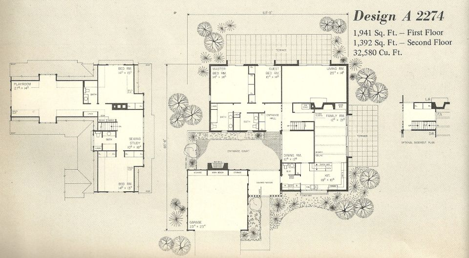 Vintage House Plans, 1970s homes, tudor style DESIGN A ...