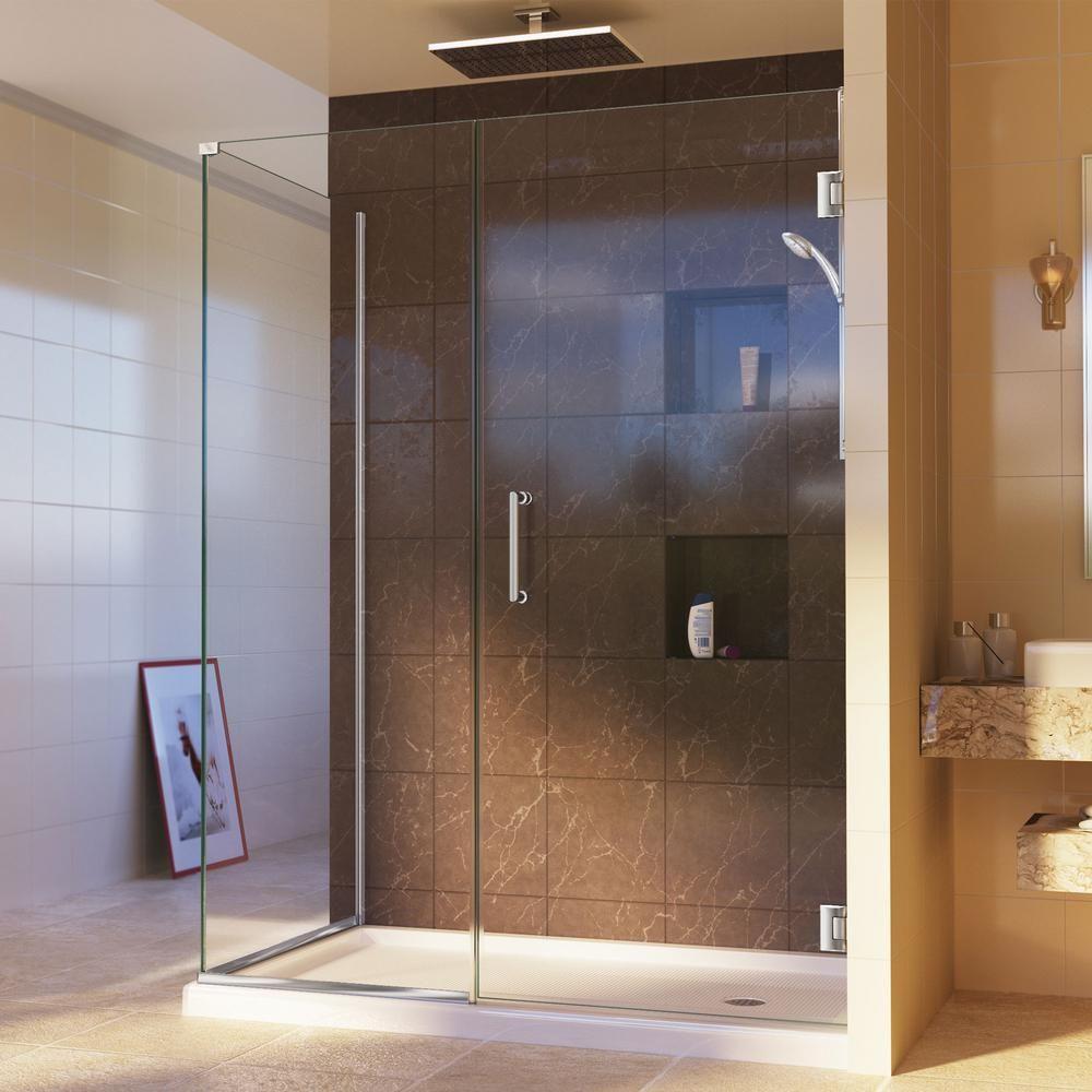 DreamLine Unidoor Plus 34-3/8 in. x 57 in. x 72 in. Hinged Shower ...
