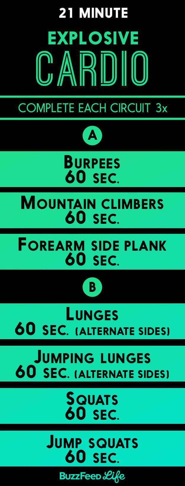 Explosive Cardio Workout | Träningspass | Pinterest | Cardio ...