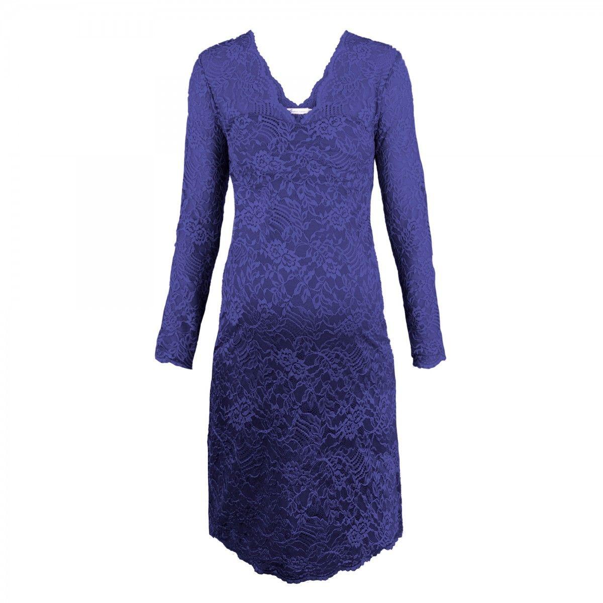 Queen mum party lace dress diva blue-31