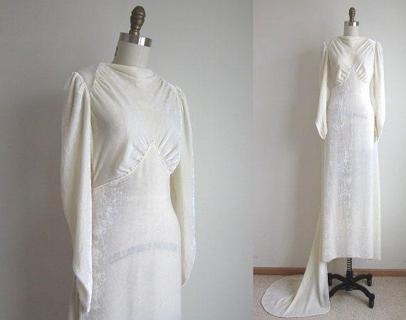 1930s Wedding Dress / Vintage 1930s by TulleandTiaraVintage, $324.00 ...