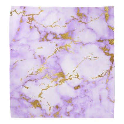 Elegant Lavender Gold Faux Metallic Marble Pattern Bandana Zazzle Com Marble Pattern Purple Marble Glam Wrapping Paper Purple white and gold wallpaper