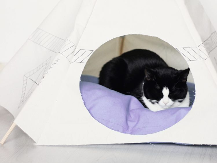 DIY-Anleitung: Tipi-Zelt fürs Haustier nähen via DaWanda.com   DIY ...