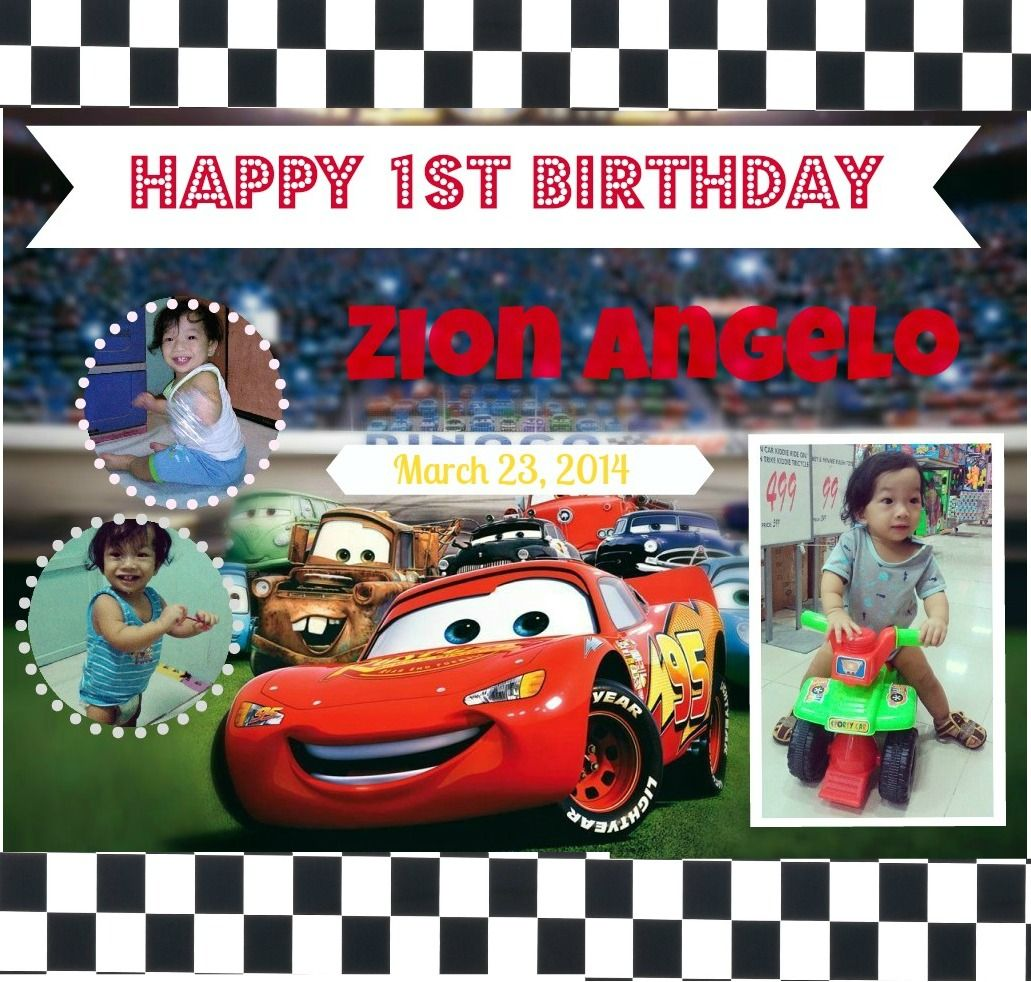 disney pixar cars lightning mcqueen mater birthday party photo zion s birthday tarpaulin 1st birthday cars theme disney cars lightning mcqueen birthday banner