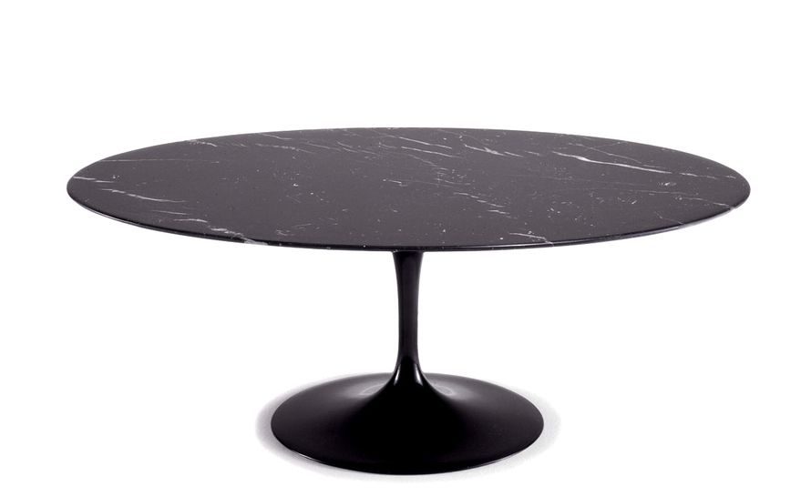 Awe Inspiring Saarinen Coffee Table Nero Marquina Marble Kitchen Oval Pabps2019 Chair Design Images Pabps2019Com