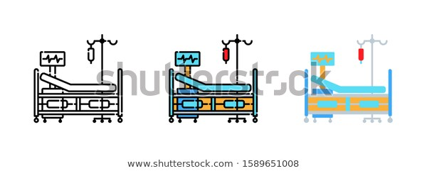 Hospital Bed Icon Set Isolated On Stock Vector Royalty Free 1589651008 Icon Set Web Design Icon