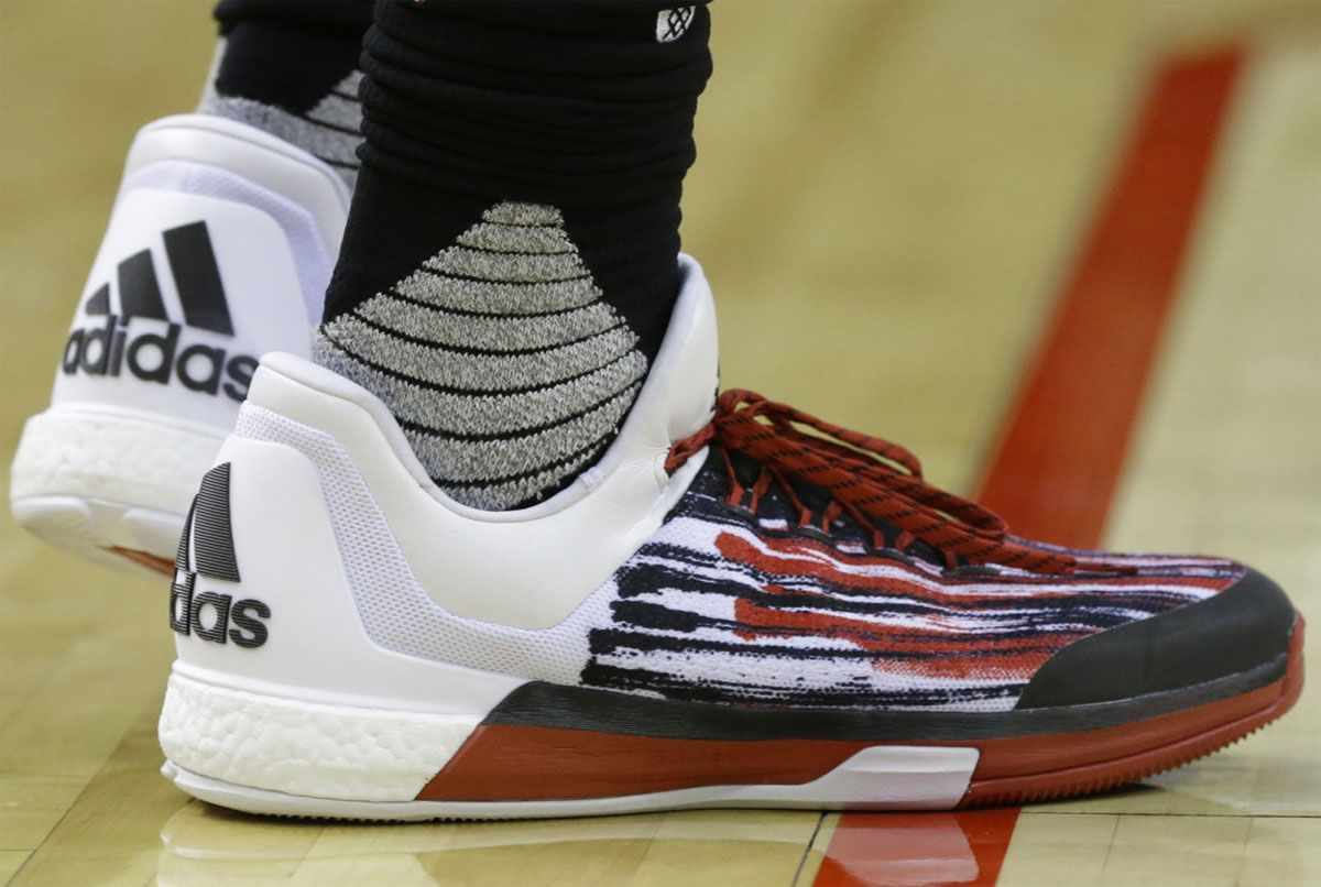 2bef70f5cf66 SoleWatch  James Harden Wears a New adidas Crazylight Boost 2015 PE ...