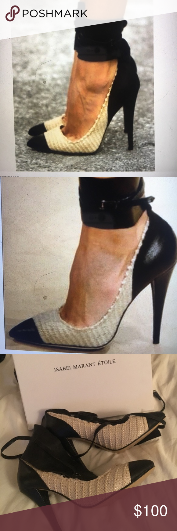 Isabel MARANT LEATHER ANKLE WRAP PUMPS 👩‍🎨 Gorgeous sexy !!! EUROPEAN DESIGNER 👩‍🎨 !! TREND SETTING DESIGNER !! Isabel Marant Shoes Heels
