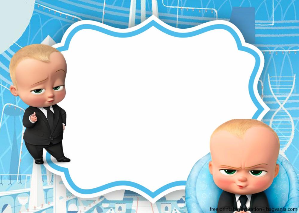 Free Baby Boss Invitation Template Bagvania Cumpleaños