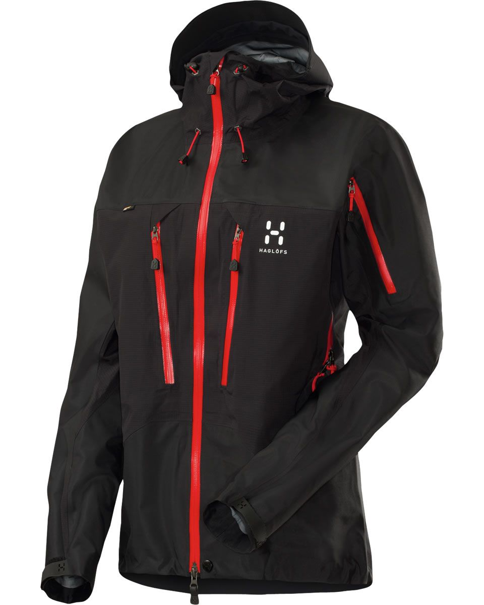 1d75679c9e36 Haglöfs Spitz II Jacket! 3 Layer gore-tex Pro! I have it with yellow  zippers.