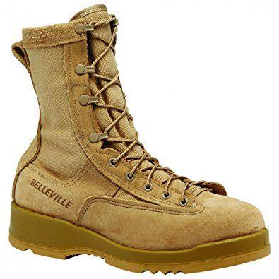 bed48b0ae38 Belleville Men's Hot Weather Steel Toe Flight Boot Tan 330DESST 11.5 ...
