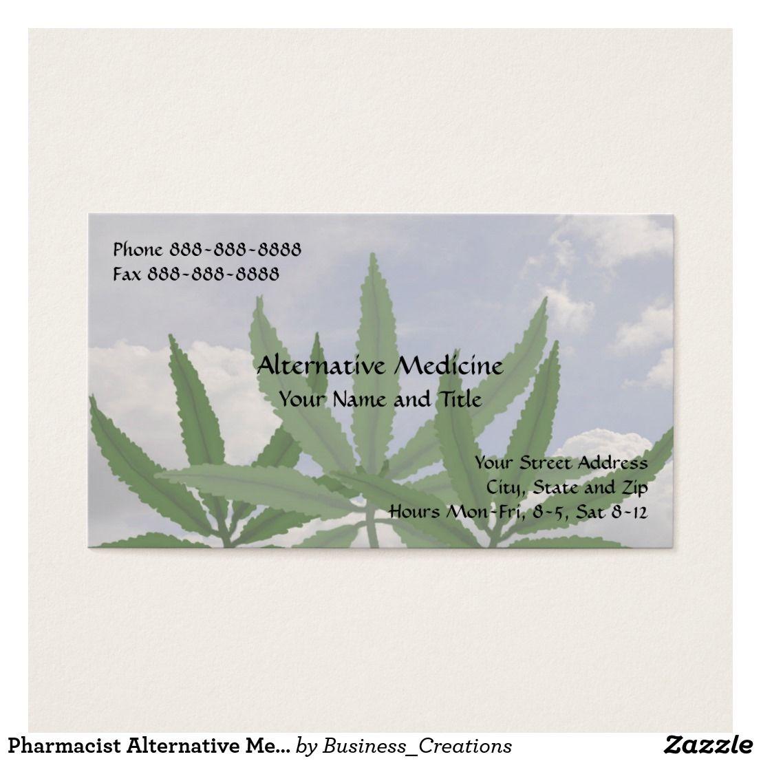 Pharmacist alternative medicine marijuana card cannabis business pharmacist alternative medicine marijuana card cannabis business card custom check out more business card designs at magicingreecefo Choice Image