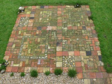 Shaped cobblestone for paths mosaic tile cobble - Reclaimed brick design ideas ...