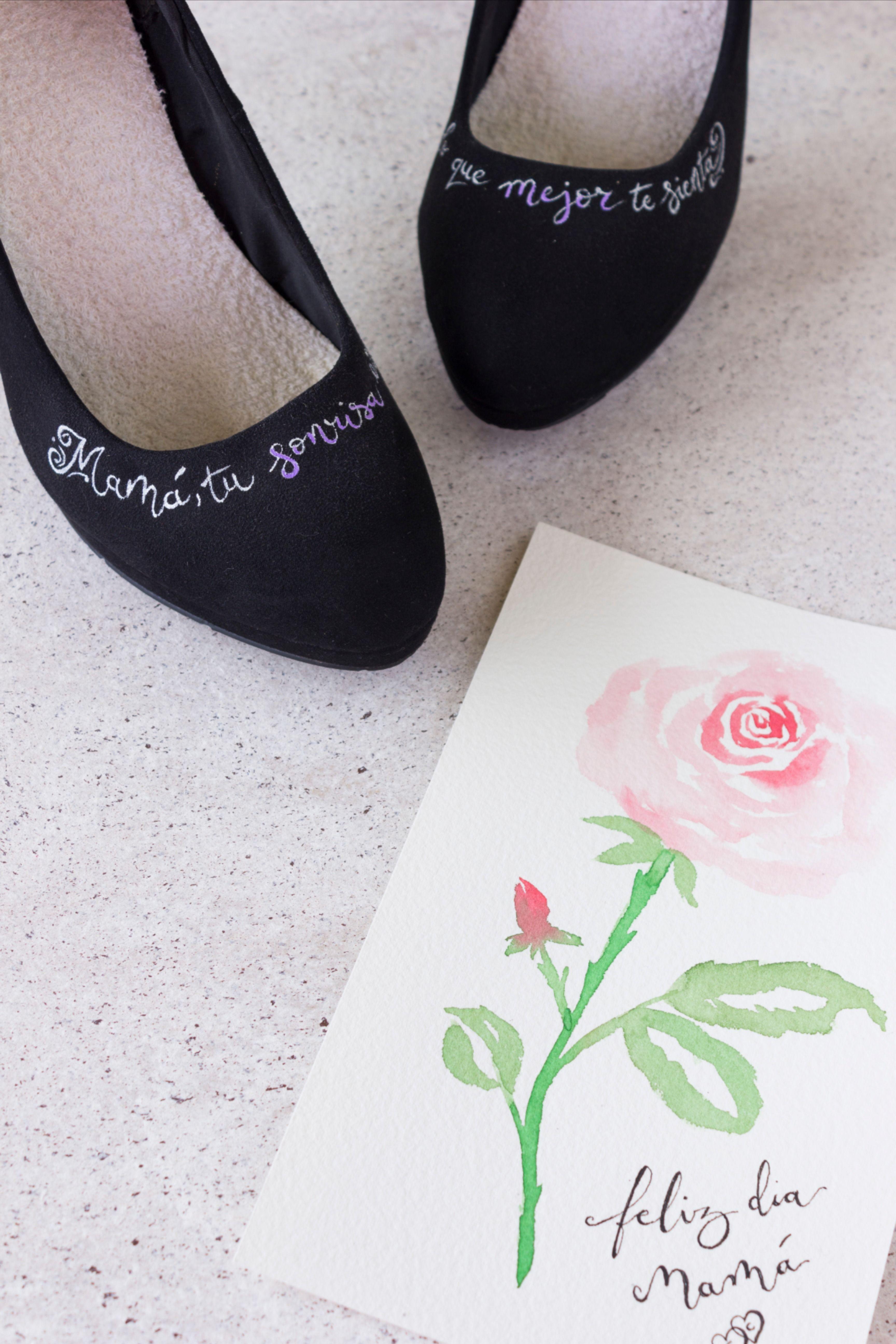 Zapatos Para Mamá Zapatos Pintados A Mano Zapatos Pintados Zapatos