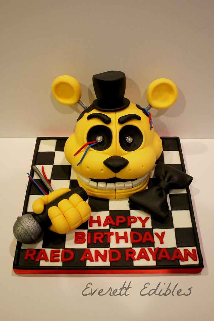 Five Nights At Freddy\'s Cake Topper Decoration Golden Freddy ...