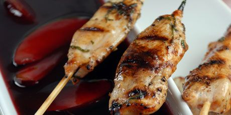 Grilled chicken sticks with plum sauce recipe chicken stick grilled chicken sticks with plum sauce forumfinder Image collections