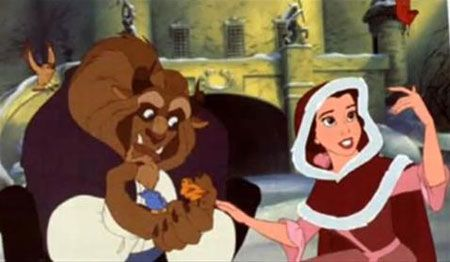 Belle with her soon-to-be prince