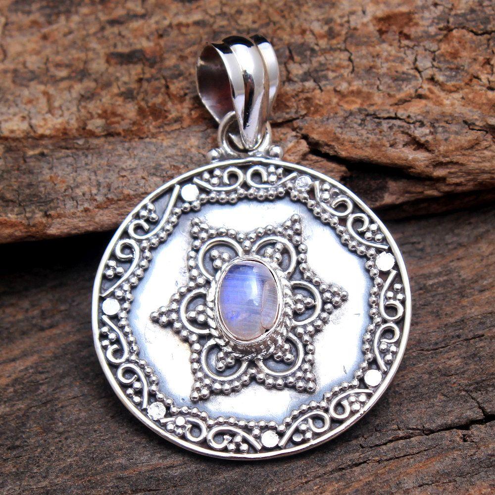 Stylish Amethyst Blue Topaz Pear /& Round Gemstone Pendant 925 Sterling Silver Handmade Designer Charm Pendant Jewelry Length 1.75 ap2967