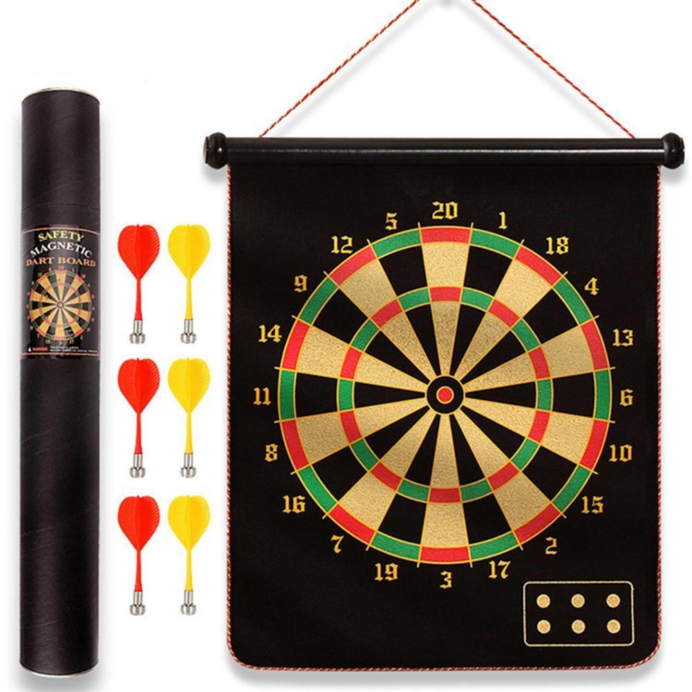 15 Inch Target Dart Flocking Dartboard Board Magnetic Darts Set